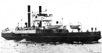 foto af søsterskibet H/F Hjalmar - Jernbanemuseet; tegning af H/F Ingeborg;