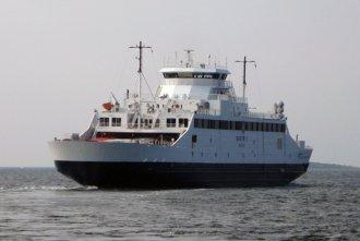 M/S Bastø I kort efter afgang fra havnen i Moss, Norge. Foto: Lars W. Budtz