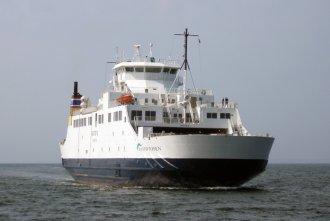 M/S Bastø II kort før ankomst til havnen i Moss, Norge. Foto: Lars W. Budtz
